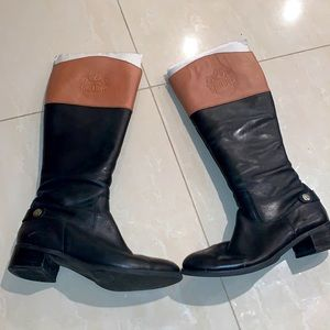 Etienne Aigner two tone riding boots size 9M